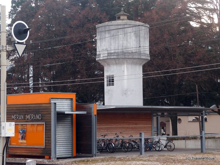 Water tower at Merano Railway Station