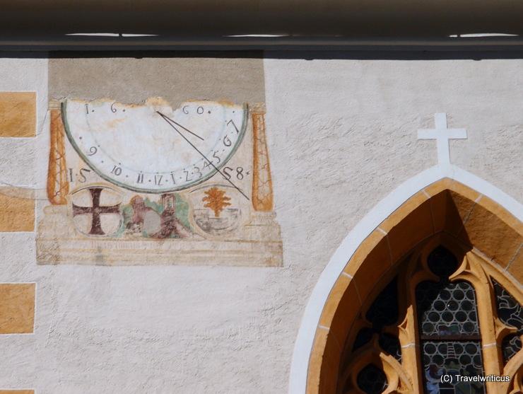 Sundial at the cloister courtyard of Millstatt Abbey in Carinthia, Austria