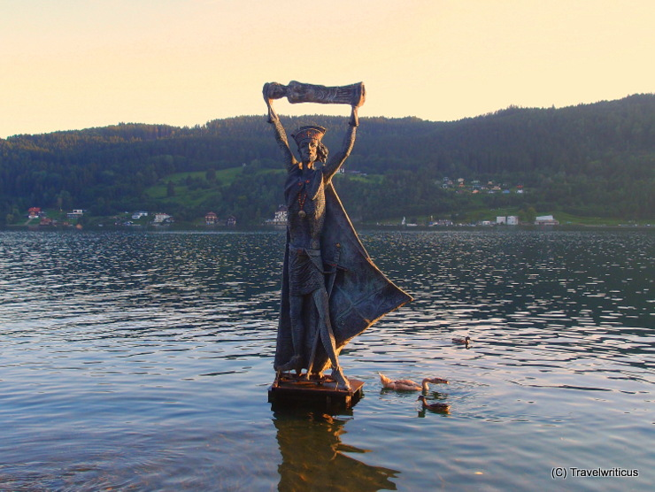 The Domitian statue at Millstatt Lake tells about the origins of the name Millstatt