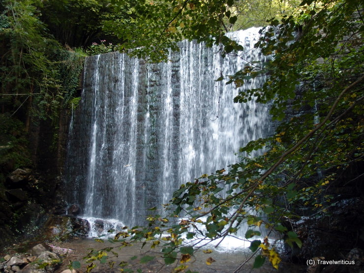 Waterfall at the sound gorge trail in Millstatt, Austria