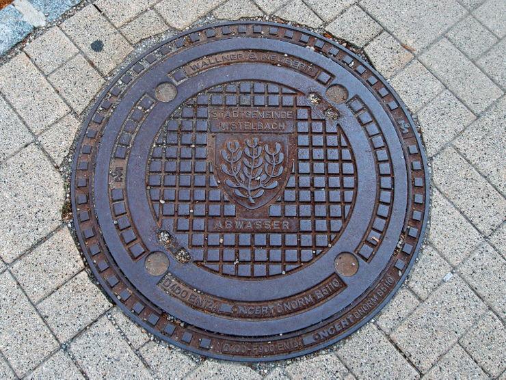 Manhole cover in Mistelbach, Austria