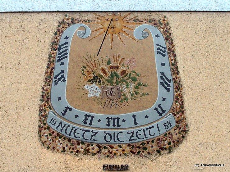 Sundial in Mistelbach, Austria