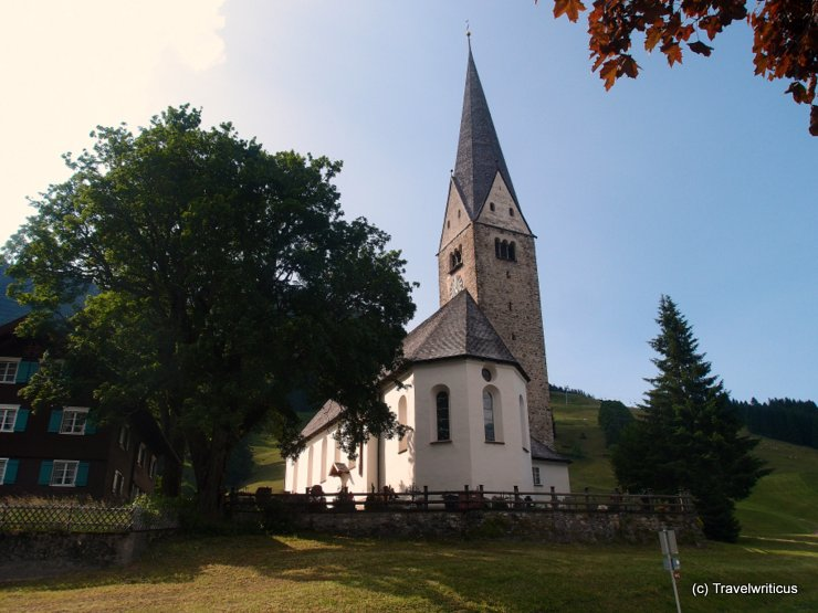 Church Sankt Jodok in Mittelberg, Austria