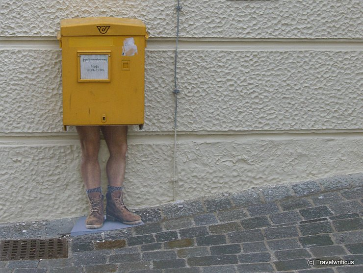 Post box with legs in Austria