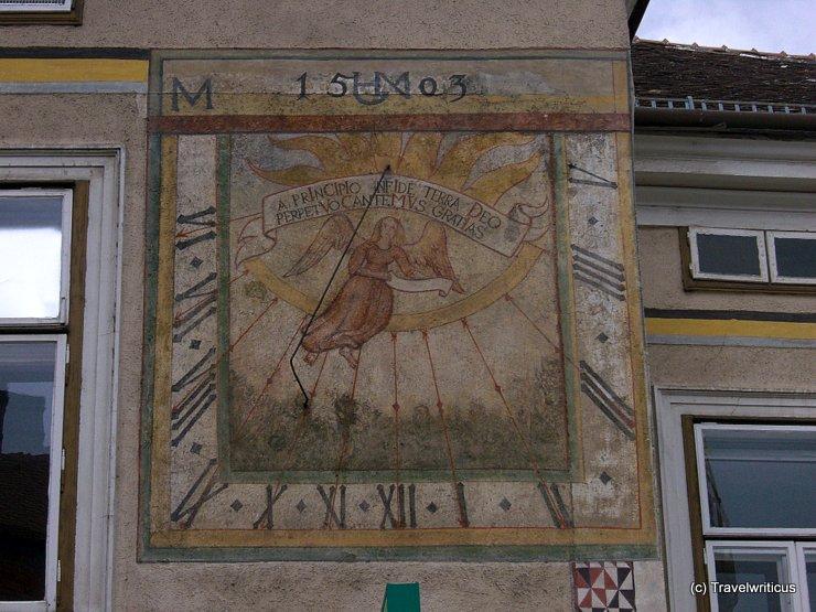 Sundial in Mödling, Austria