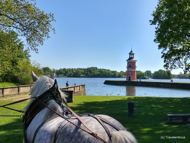 Lighthouse at the Niedere Großteich Bärnsdorf in Moritzburg