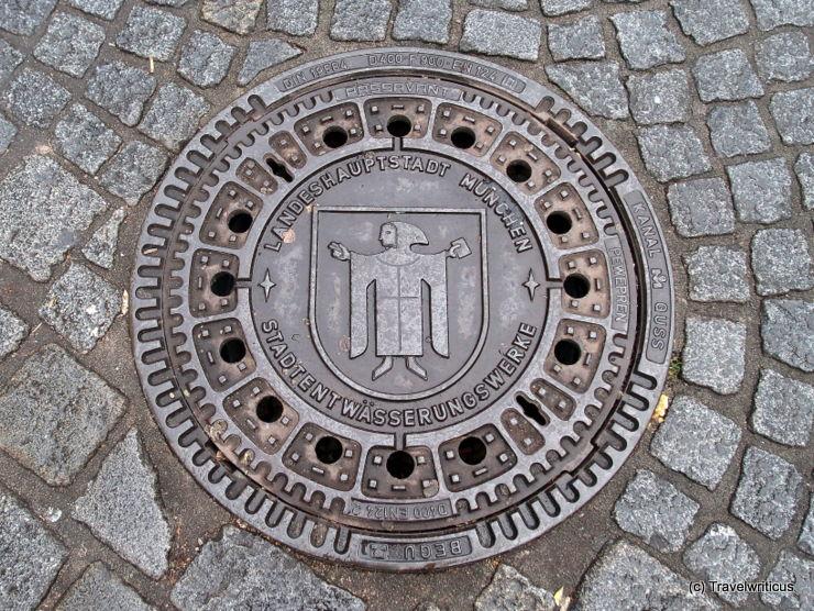 Manhole cover in Munich, Germany