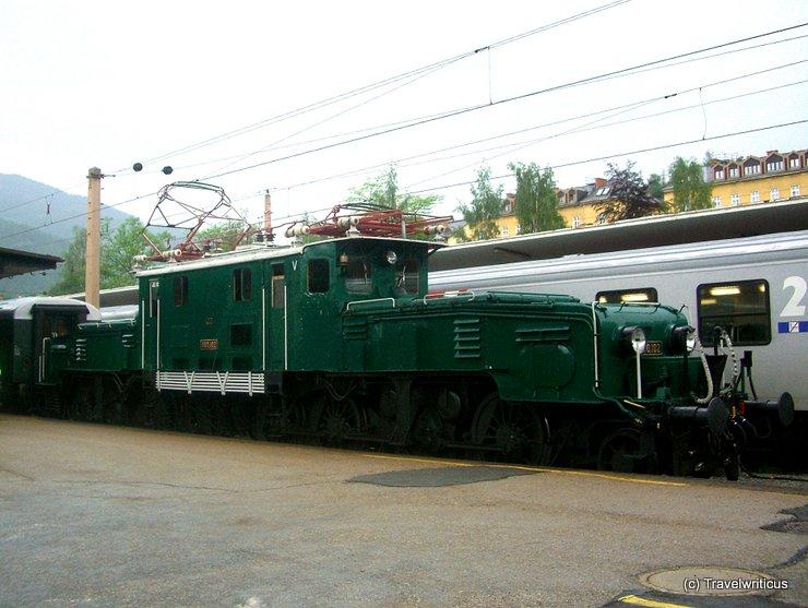 Locomotive 1100.102 in Mürzzuschlag, Austria