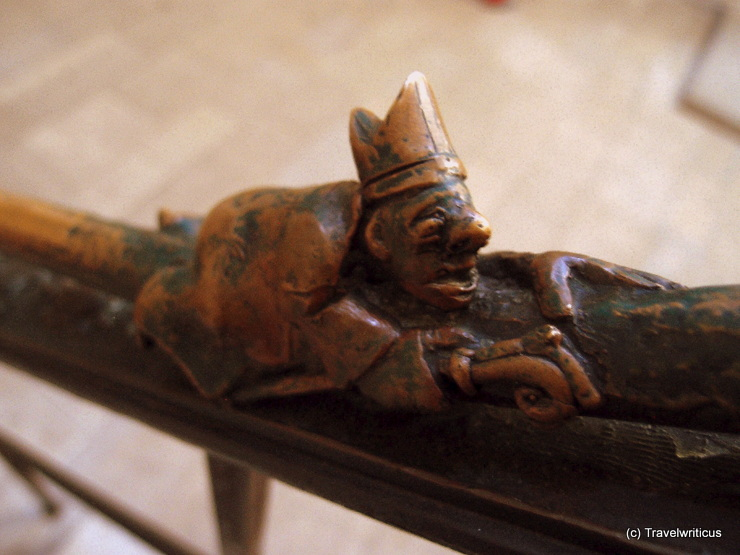 Detail of a handrail in the Naumburg Cathedral in Naumburg (Saale), Germany