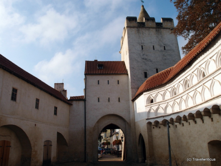 Inside the barbican of a gate named Marientor in Naumburg (Saale), Germany