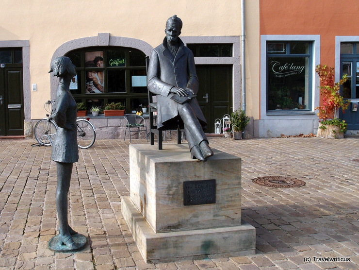 Monument to Friedrich Nietzsche in Naumburg (Saale), Germany