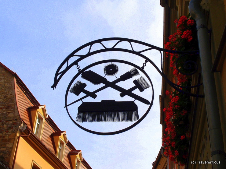 Shop sign of a brush-maker in Naumburg (Saale), Germany