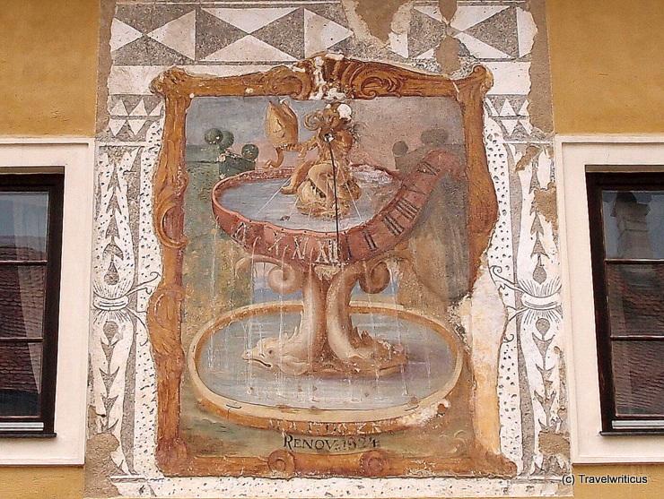 Sundial at Neuberg Abbey in Styria, Austria