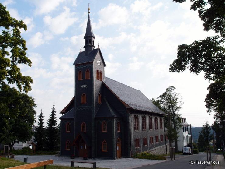 Wooden church in Neuhaus am Rennweg, Germany