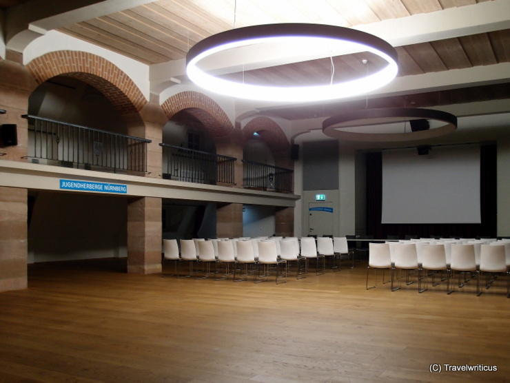 Conference room at the Nuremberg Youth Hostel in Franconia, Germany