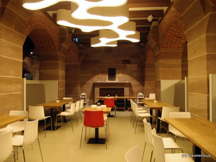 Interesting combination of old and new at the dining hall of Nuremberg Youth Hostel