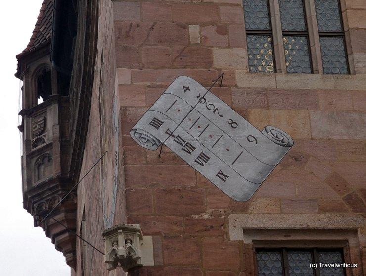 Sundial on the Nassauer Haus in Nuremberg