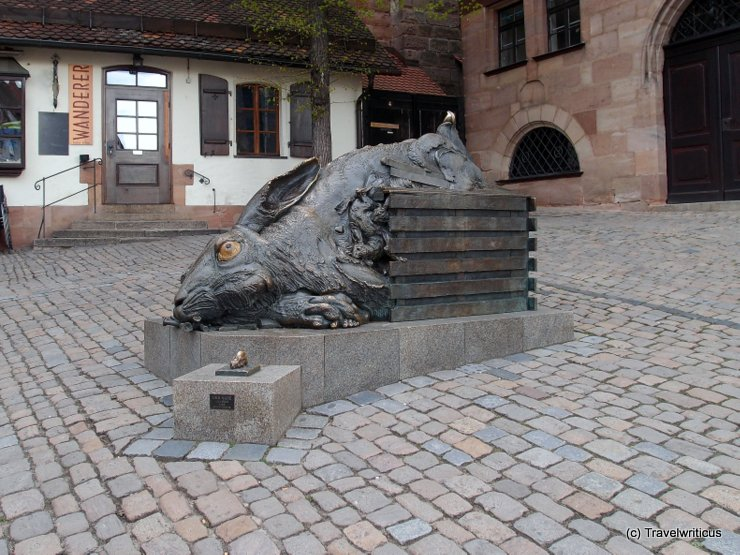 Sculpture by Jürgen Goertz in Nuremberg, Germany