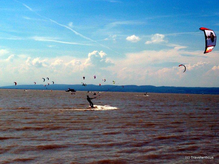 Kite surfing in Podersdorf, Austria