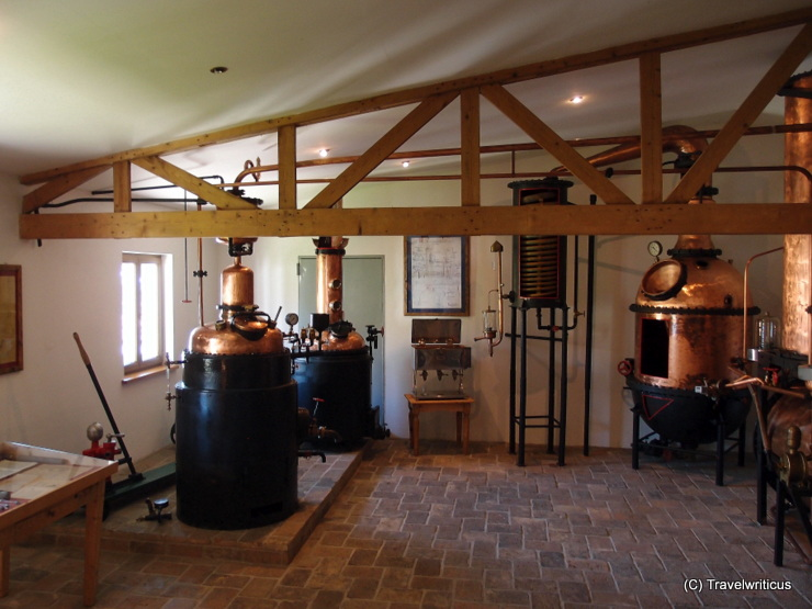 Pieces of industrial stillhouses at the distillery museum in Poysdorf, Austria