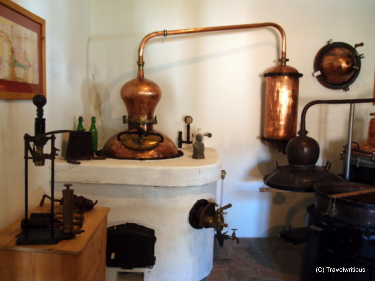 Inside the distillery museum Heger in Poysdorf, Austria
