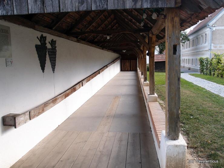 Traditional nine-pin bowling alley in Poysdorf, Austria