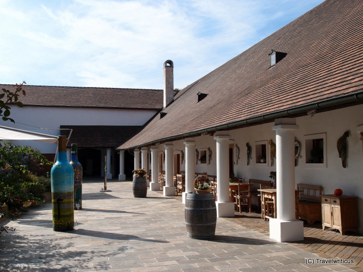 Vineyard estate Taubenschuss in Poysdorf, Austria