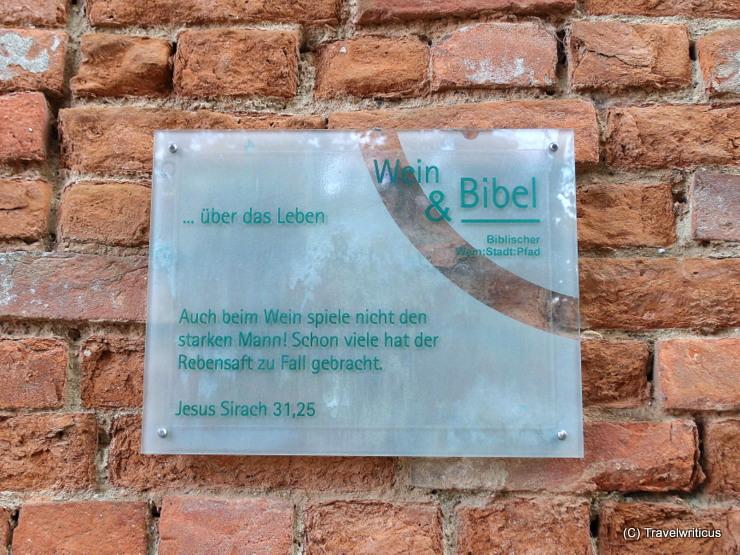 Wine & Bible trail (2) around the parish church of Poysdorf, Austria
