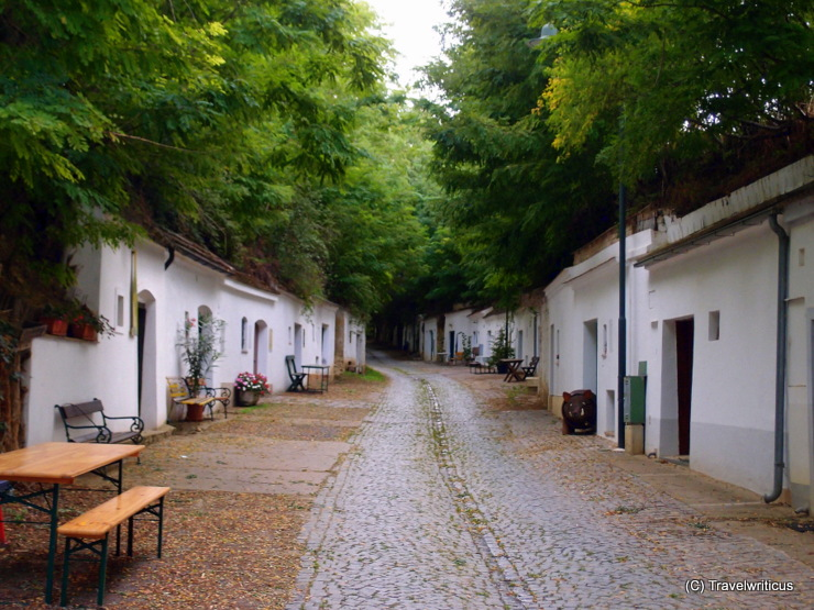The Radyweg, the longest wine cellar lane of Poysdorf, Austria