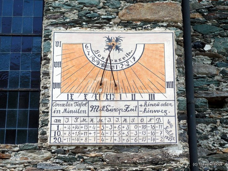 Sundial in Prägraten am Großvenediger, Austria