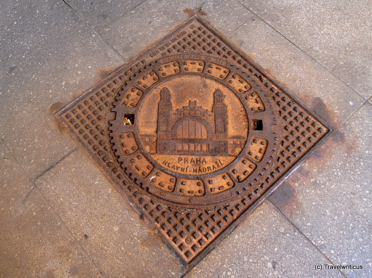 Mainhole cover at Prague main railway station