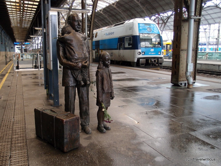 Monument to Nicholas Winton in Prague, Czech Republic