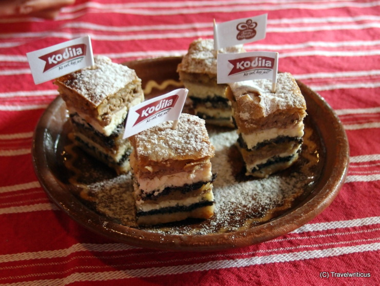 A traditional dish in Prekmurje, Slovenia: Prekmurska gibanica