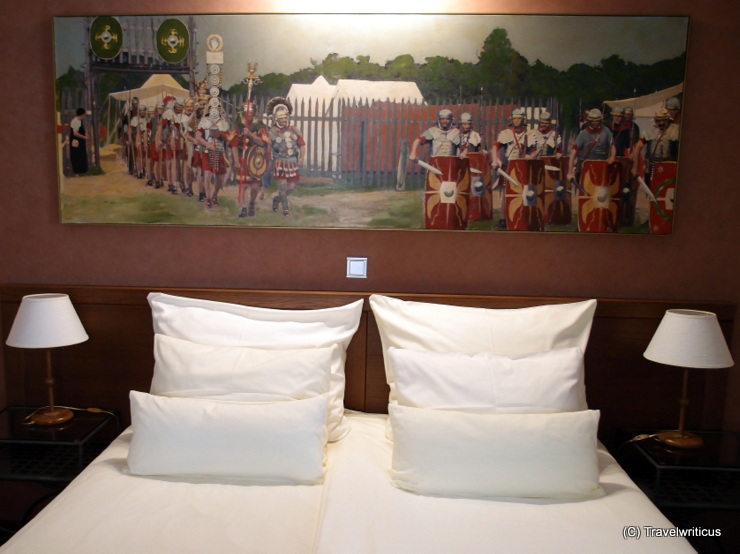 Painting I at the Roman suite of Hotel Mitra in Ptuj, Slovenia