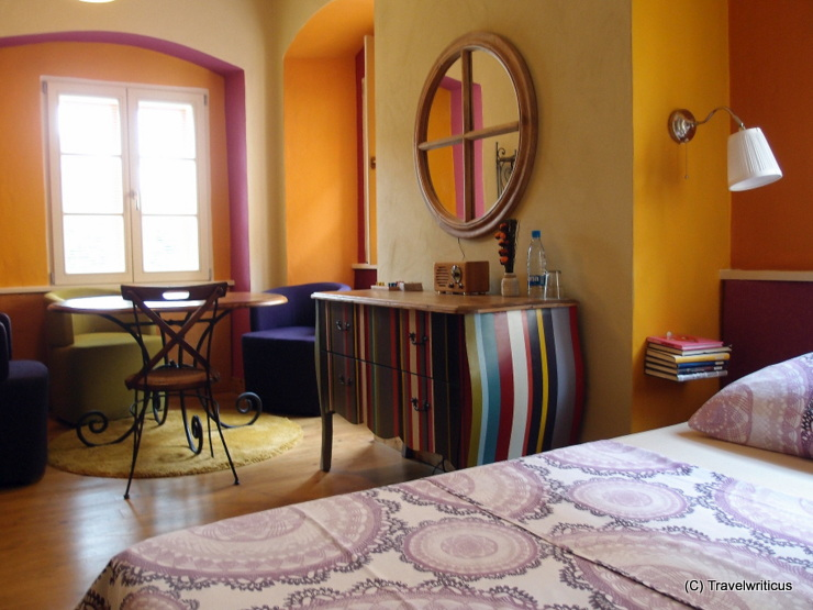 Stylish room at the muziKafe Bed & Breakfast in Ptuj, Slovenia