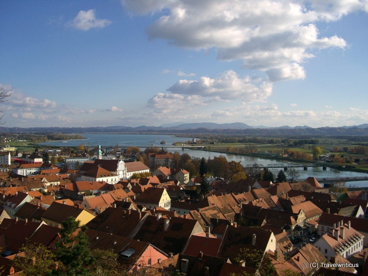 Over the rooftops of Ptuj, Slovenia