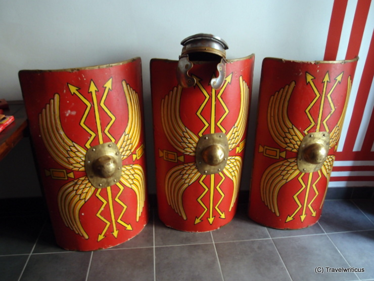 Reconstruction of Roman shields (scuta) used by the POETOVIO LXIX in Ptuj, Slovenia