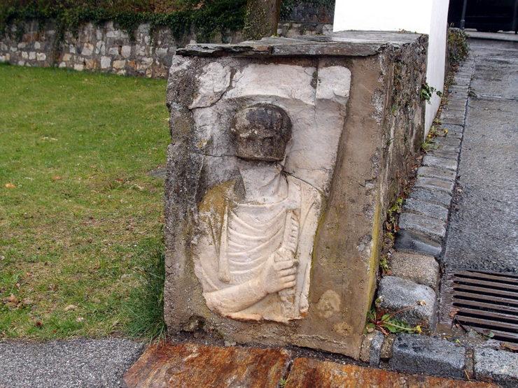 Roman tombstone in Puch bei Weiz, Austria