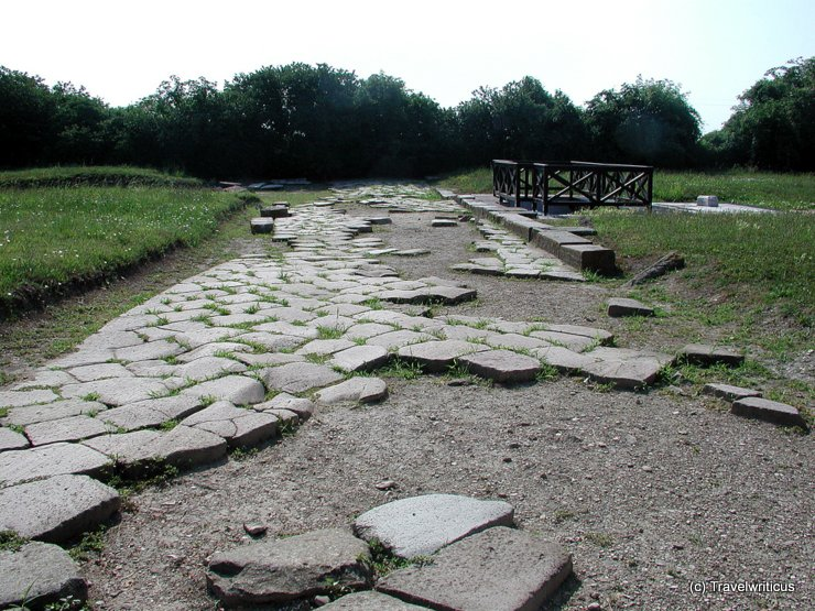Remains of a Roman street