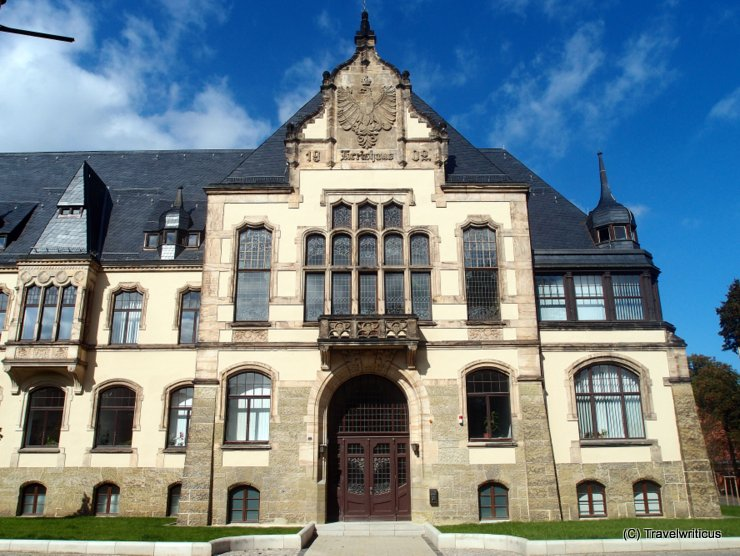 Former district administration building in Quedlinburg, Germany