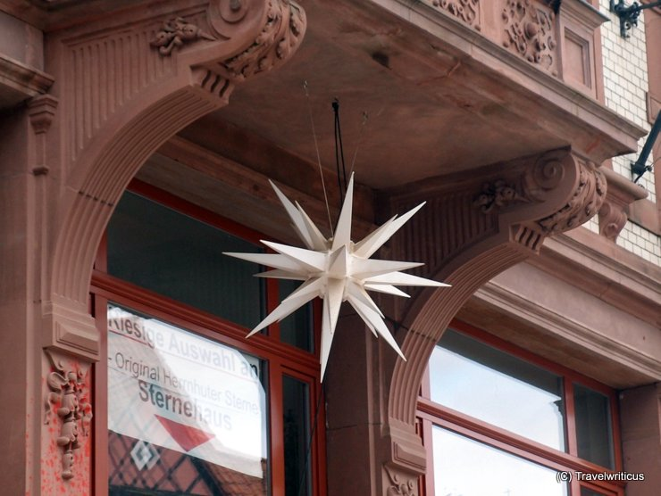 Moravian star in Quedlinburg, Germany
