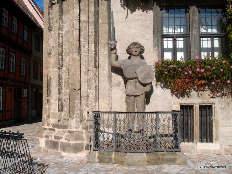 Quedlinburg Roland at the city hall of Quedlinburg, Germany