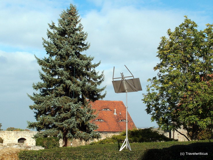 One of three huge music stands at Querfurt Castle in Saxony-Anhalt, Germany
