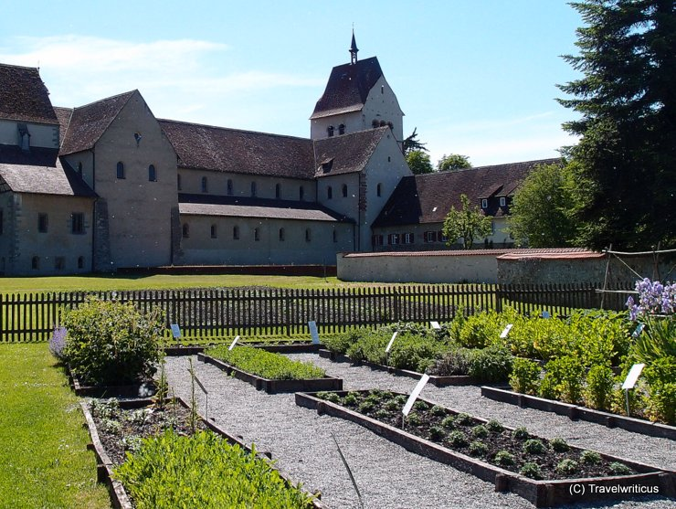Herb garden located near Mittelzell Minster on Reichenau Island, Germany