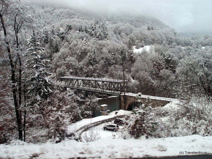 Rhaetian Railway on a winter day