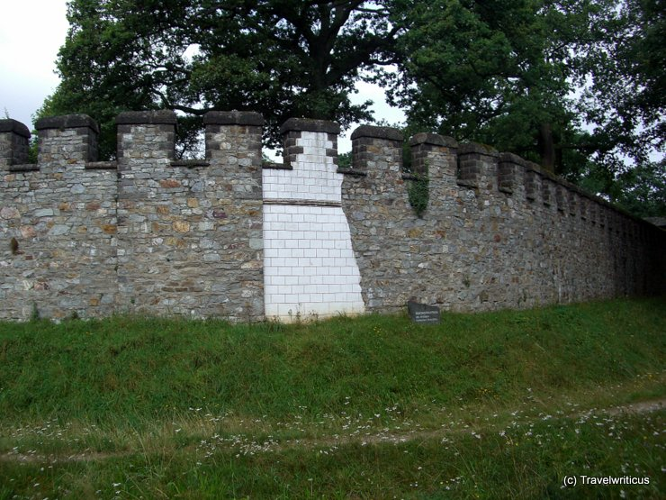 Reconstructed wall of a Roman fort, Germany