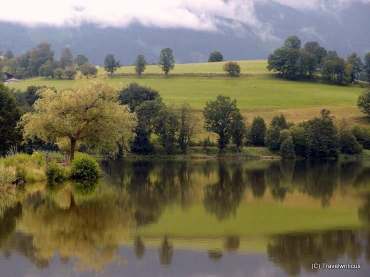 Ritzensee Lake in Saalfelden, Austria