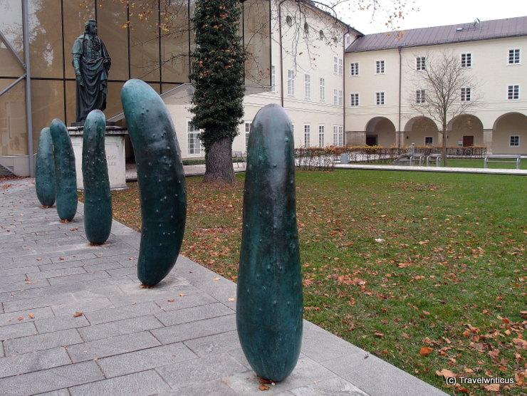 'Gherkins' by Erwin Wurm in Salzburg, Austria