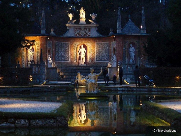 Fountain at the Hellbrunner Adventzauber in Salzburg, Austria