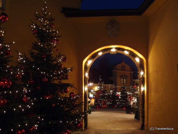 Gate at the Hellbrunner Adventzauber in Salzburg, Austria